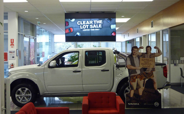 Automotive Digital Signage Wall