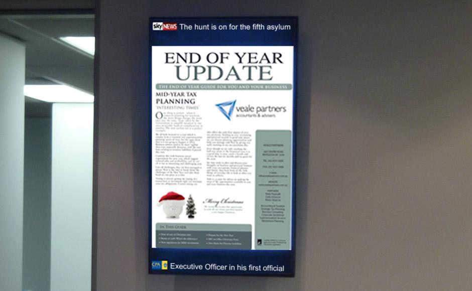 accounting digital signage display