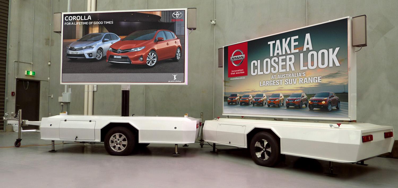 Outdoor digital signage mobile LED trailer Melbourne